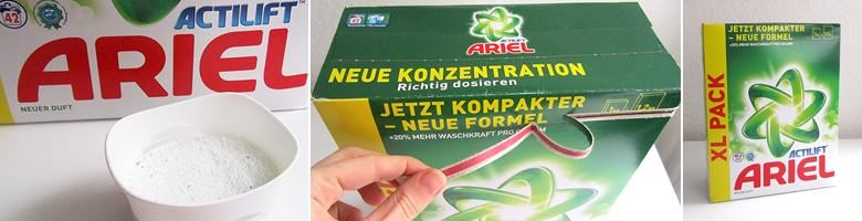 Ariel Actilift Pulver-Waschmittel – Produkttest