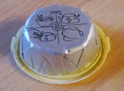 Butter verpackt