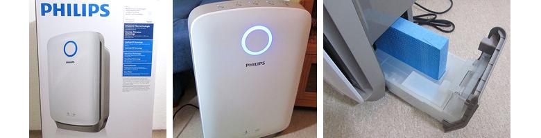 Philips 2-in-1-Kombigerät AC4080 Luftbefeuchter und Luftreiniger in Einem