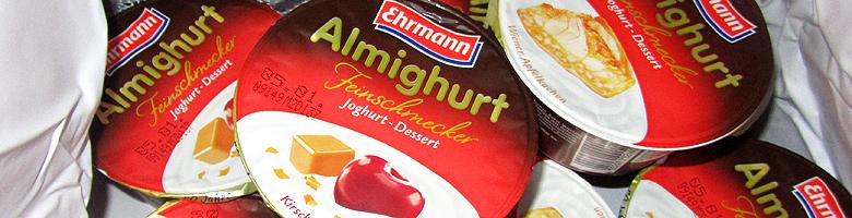 Almighurt Feinschmecker von Ehrmann 2 Sorten im Test