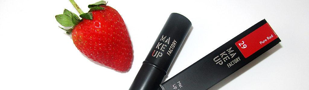 Lippenstift Pure Red – Mat Wanted Linie von Make Up Factory