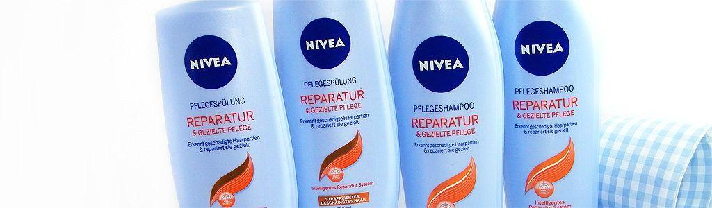 NIVEA Haarpflegeserie Reparatur & gezielte Pflege – Shampoo und Spülung