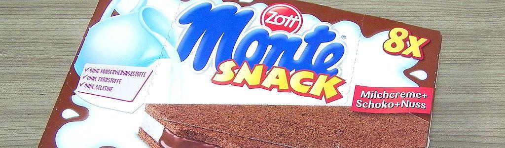 Monte Snack der Milchcreme–Snack von Zott