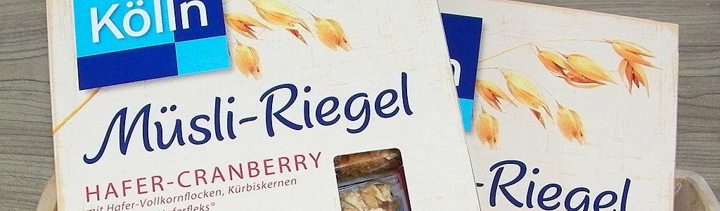 Hafer-Cranberry Müsli-Riegel von Kölln