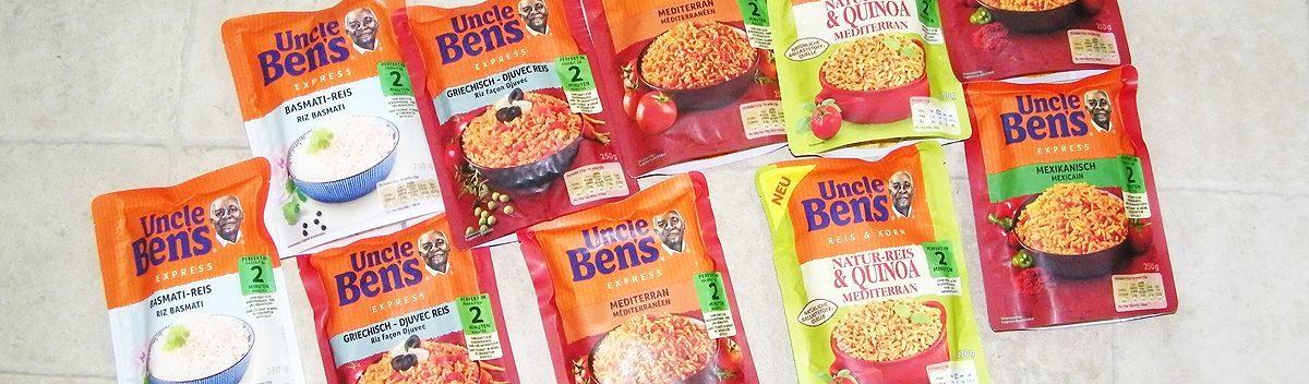 Uncle Ben's Express-Reis – für schnelle Reisgerichte